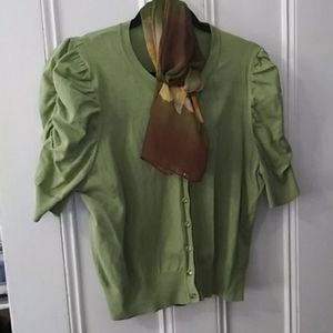 August silk cardigan and scarf combo XL